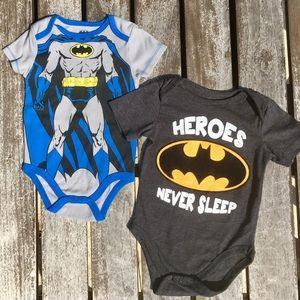 9m Batman Onesies DC Comics Superhero Bodysuit Lot